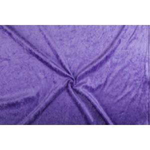 Velour de pannes lila - 10m stof op rol