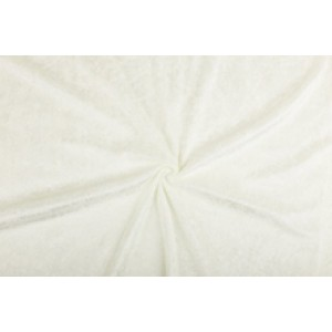 Velour de pannes gebroken wit - 10m stof op rol