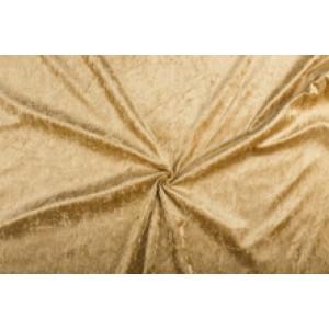 Velour de pannes camel bruin - 10m stof op rol