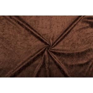 Velour de pannes donkerbruin - 10m stof op rol