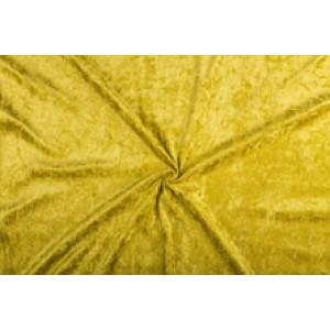 Velour de pannes goud - 10m stof op rol