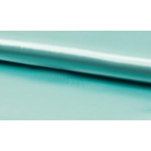 Satijn Mint - Glanzende blauwe stof