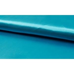 Satijn Oceaanblauw - Glanzende blauwe stof