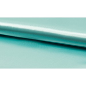 Satijn Deluxe Mint - Glanzende blauwe stof