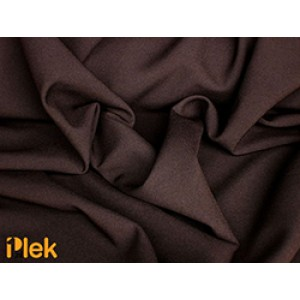 Texture stof Donkerbruin 40m per rol - Polyester